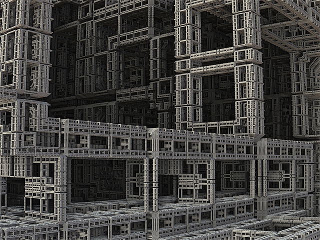 Fractal, 3d, Construction, Industry, Design, Build