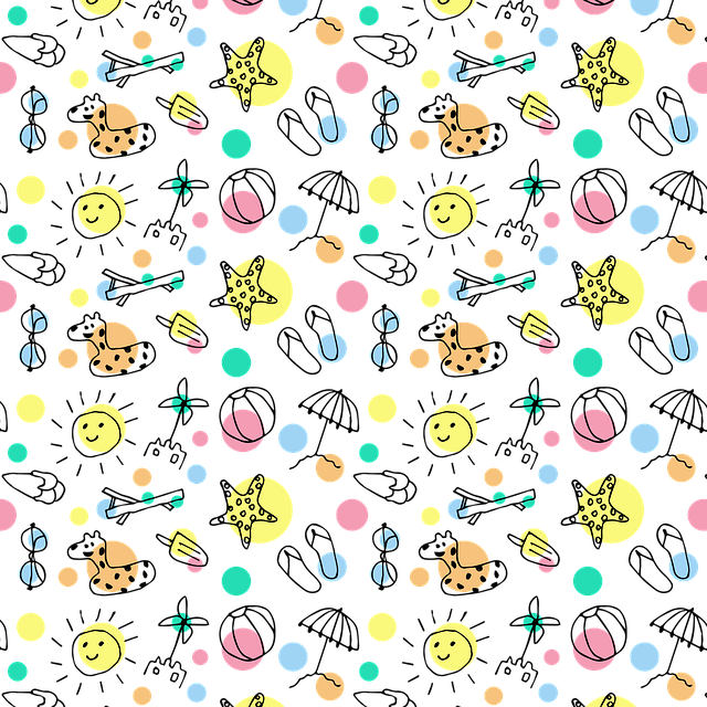 Summer, Pattern, Design, Colorful, Drawing, Creative