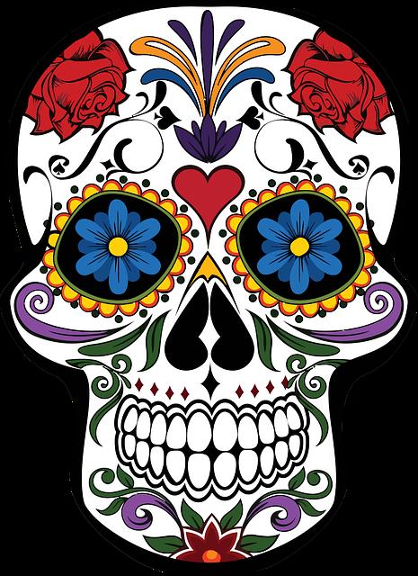 Cranium, Decoration, Decorative, Design, Fancy, Floral