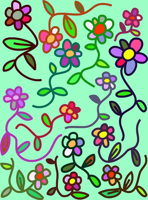 Flowers, Floral, Doodle, Plants, Nature, Design