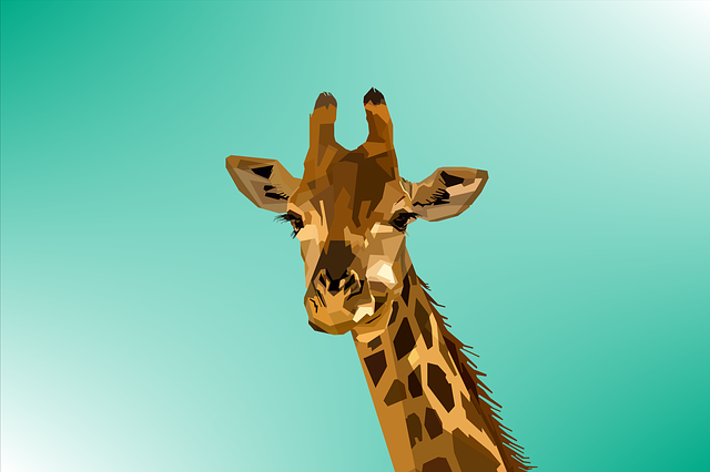 Animal, Giraffe, Design, Geometry, Nature, Pop, Art