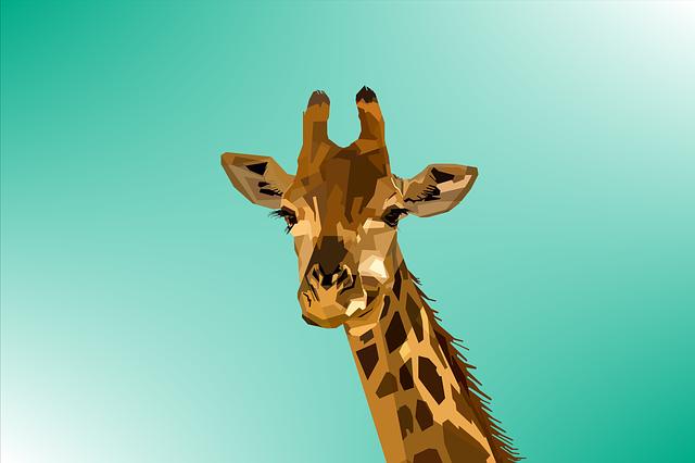 Animal, Giraffe, Design, Geometry, Nature, Pop, Art