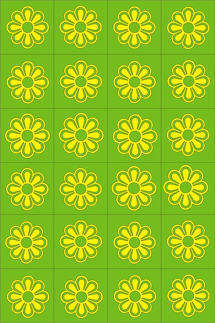 Pattern, Colorful, Decor, Green, Yellow, Design
