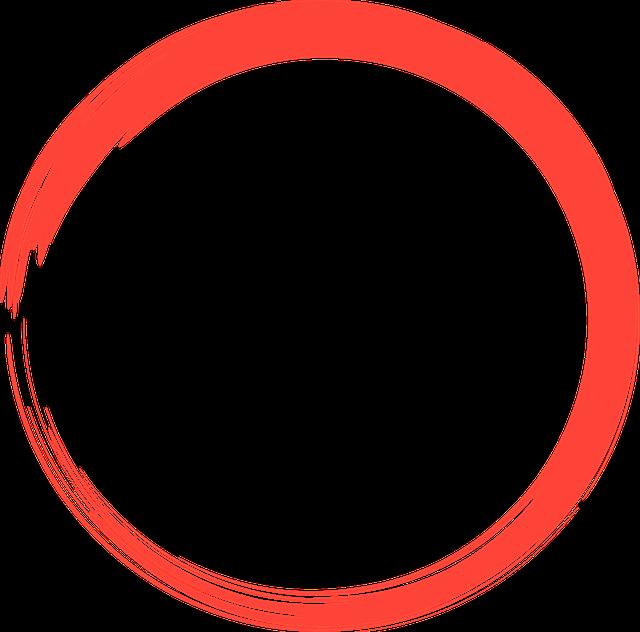 Red, Circle, Logo, Round, Element, Design, Splash