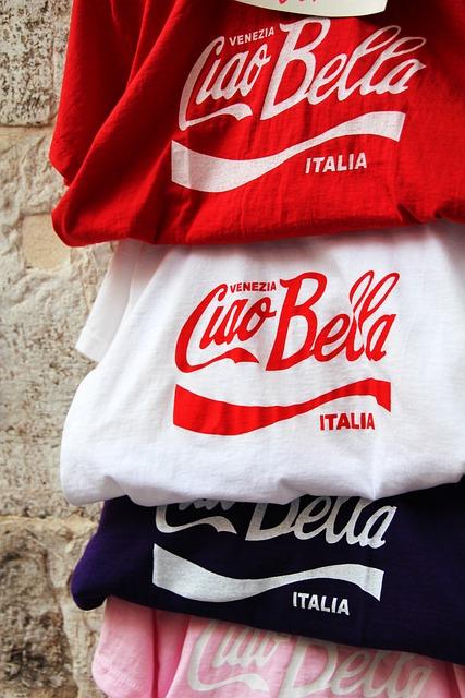 Ciao Bella, T Shirts, Coca Cola, Design, Souvenir