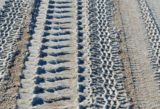 Tire Tracks, Design, Pattern, Tracks, Abstract