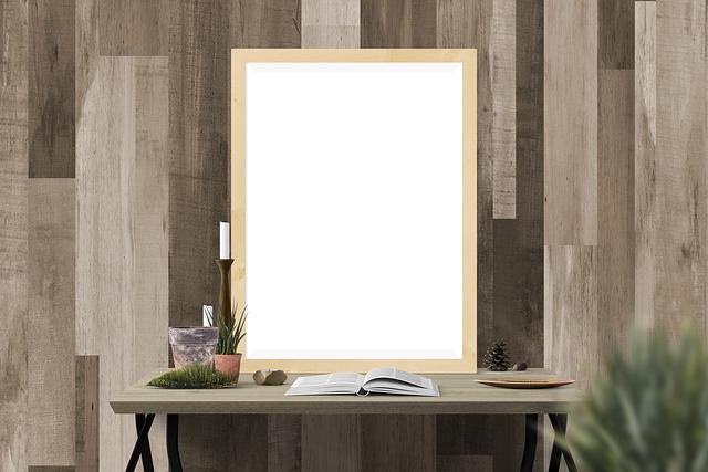 Desk, Picture, Book, Contemporary, Empty, Frame