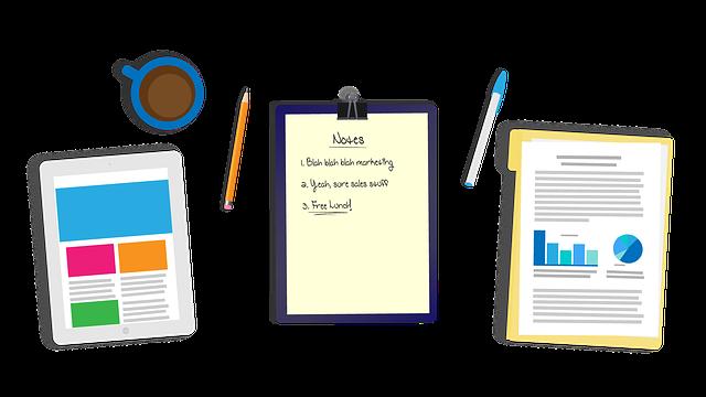 Desk, Tablet, Notes, Graphs, Analytics, Website Design