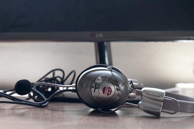 Isolated, Technology, Desktop, Equipment, Headphone