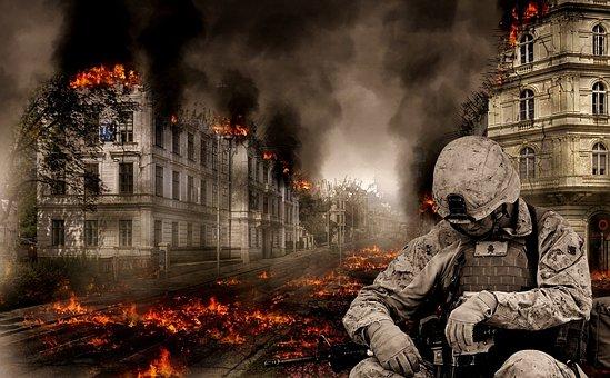 War, Soldier, Tired, Desperate, Fight, Defense