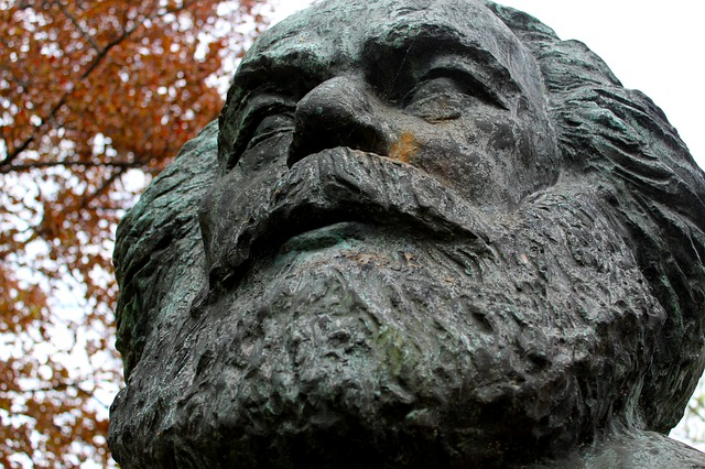 Statue, Dessau, Marx, Policy, Socialism, Education
