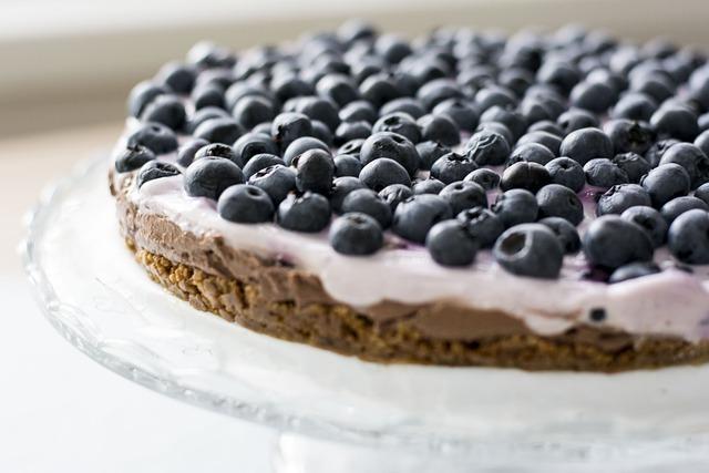 Blueberries, Cake, Fruit, Sweet, A Cake, Dessert