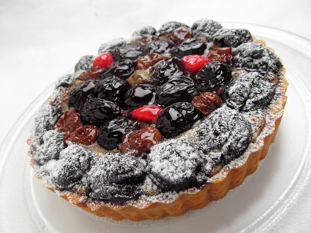 Cake, Fruit, Cherry, Sweet, Tart, Cherries, Dessert