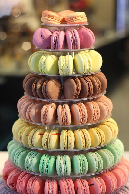 Macarons, Colorful, French, Bakery, Macaroons, Dessert