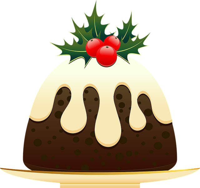Christmas, Christmas Pudding, Dessert, Festive, Food