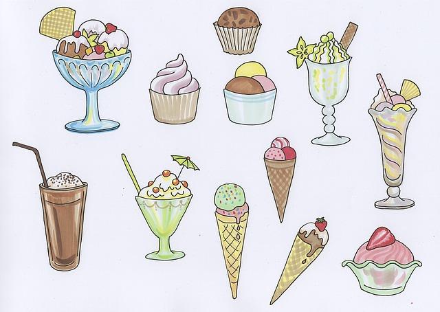 Ice, Ice Cream Sundae, Cream Cups, Dessert, Ice Cream