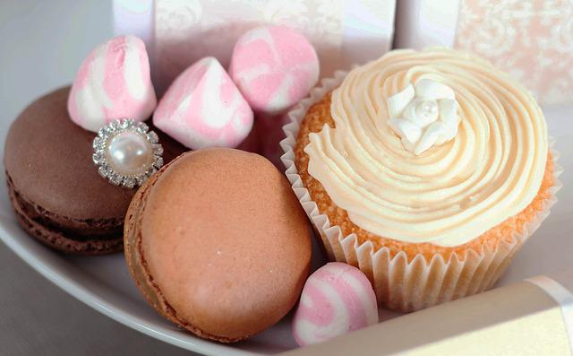 Cupcake, Macaroon, Marshmallows, Tea Party, Dessert