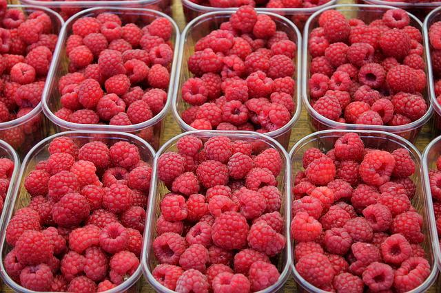 Raspberry, Fruit, Berry, Food, Dessert, Naschmarkt