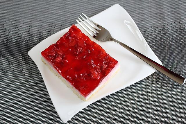 Fruit Slices, Strawberry Sections, Cream Slice, Dessert