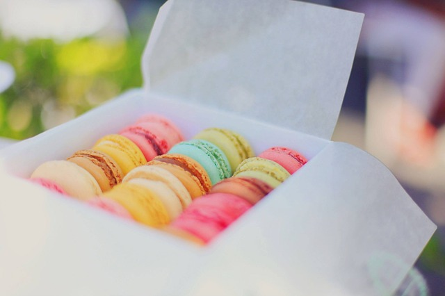 Macarons, Colorful, Desserts, Box, Sweets