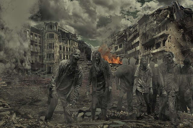 Walking Dead, Zombies, Destroyed City, Horror