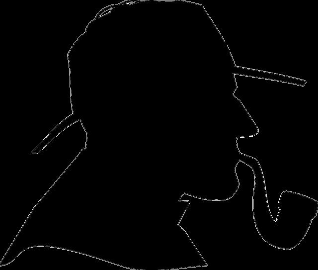 Detective, Male, Man, Profile, Silhouette, Vintage