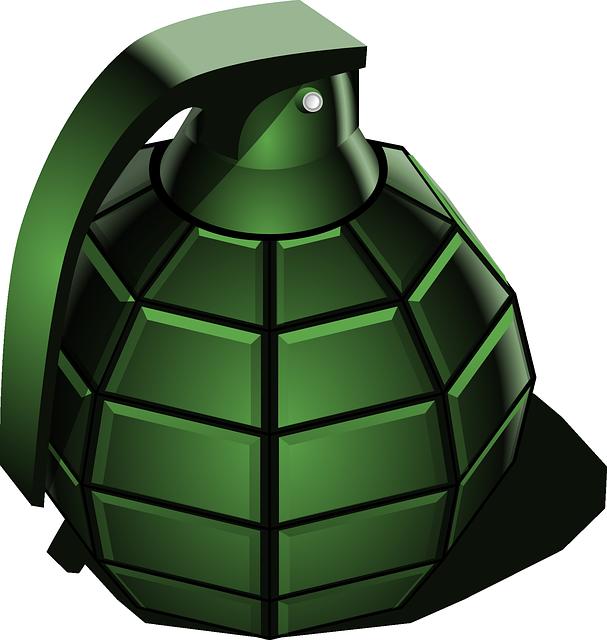 Hand Grenade, Grenade, War, Green, Weapon, Detonator