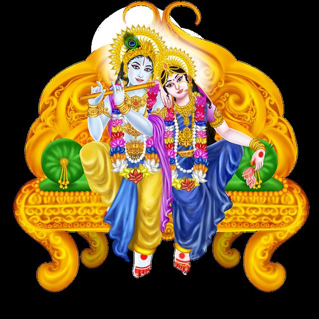 Krishna, Radha, Dev, Shri Krishna, Devi Radha, Painting