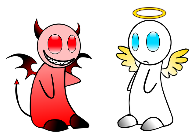Angel, Devil, Gut, Evil, Sky, Contrary, Hell, Different