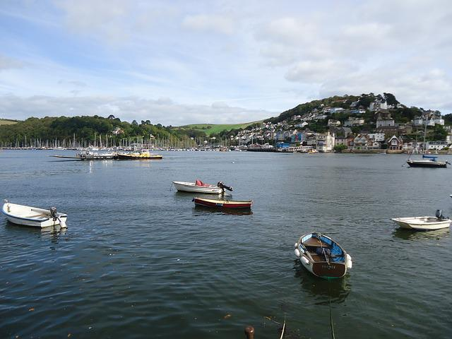 Dartmouth, England, Boats, Devon, Kingswear, Coast