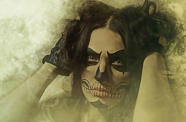 Catrina, Halloween, Muerte, Dia De Los Muertos