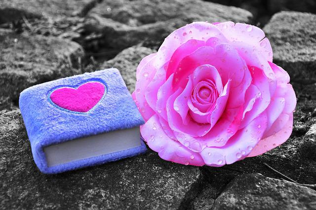 Diary, Fluffy Diary, Child's Diary, Lilac Diary, Heart