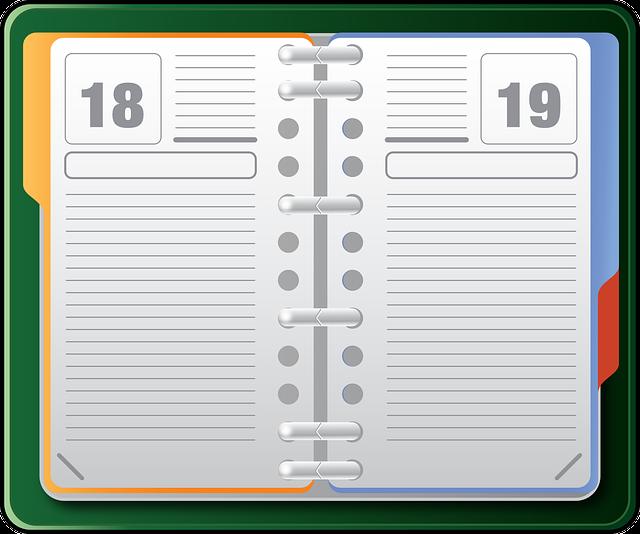 Organizer, Datebook, Diary, Agenda, Office, Notebook