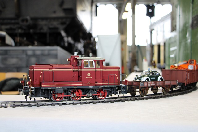 Model Railway, Diesel Locomotive, Freight Train, Train