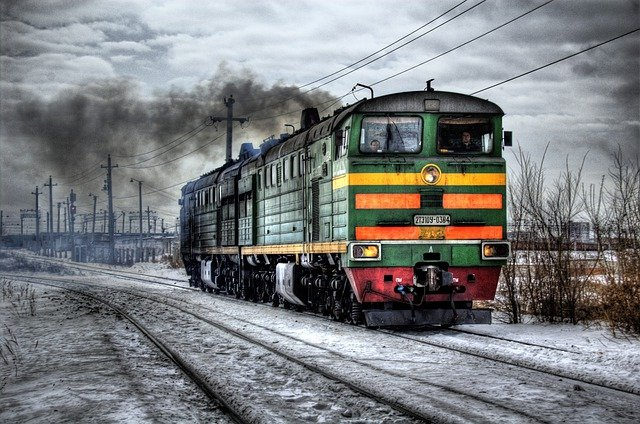 Locomotive, Diesel, Russia, Train, Traffic, Smoke