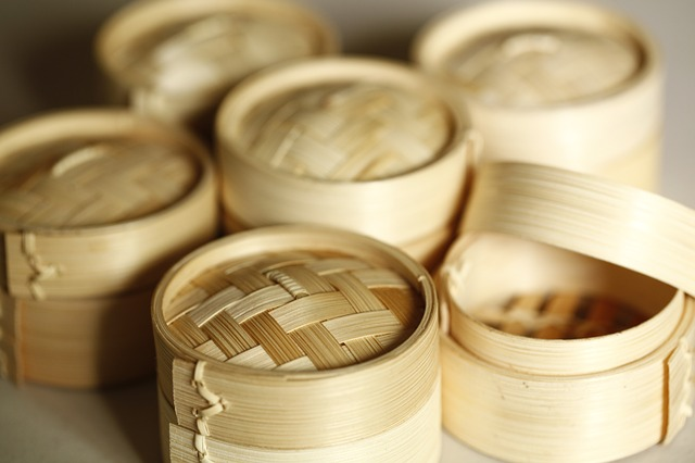 Steamer, Chinese, Bamboo, Diet, Chinese Style, Steamed