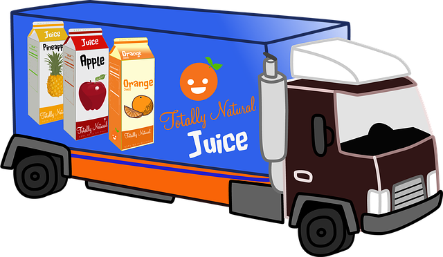 Delivery Truck, Juice, Natural, Diet, Health, Delivery