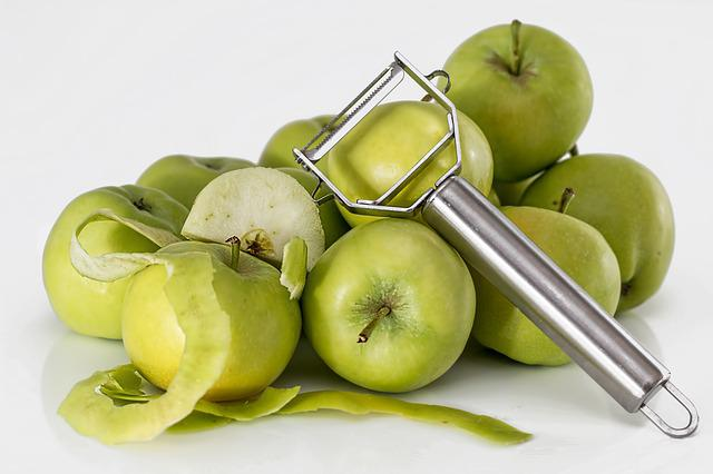 Apple, Peeler, Fruit, Green, Healthy, Fresh, Diet, Peel