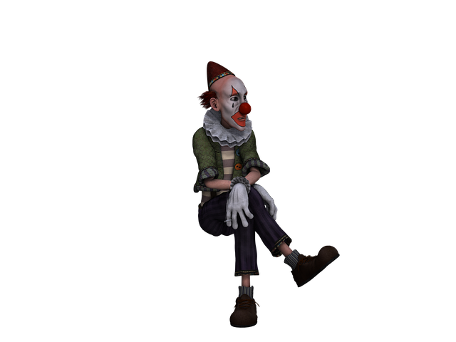 Clown, Figure, Fantasy, Digital Art, Isolated