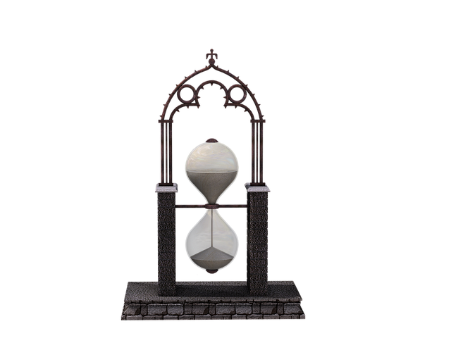 Clock, Time, Hourglass, Glass, Digital Art, Isolated