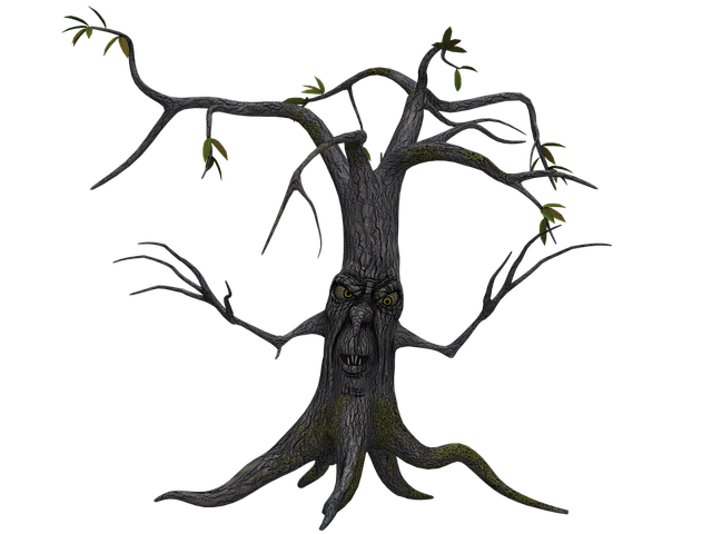 Tree, Digital Art, Isolated, Without Leaves, Leafless