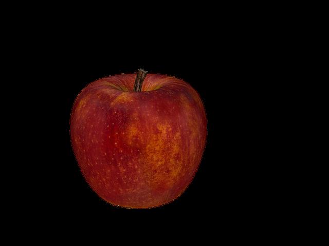 Apple, Fruit, Red, Fresh, Digital Art, Isolated