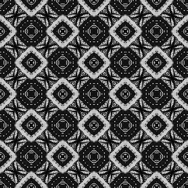 Digital, Seamless, Pattern, Black And White, Squares