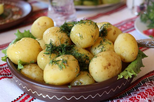 Ukraine, Potatoes, Dill, Vegetable, Food, Cuisine