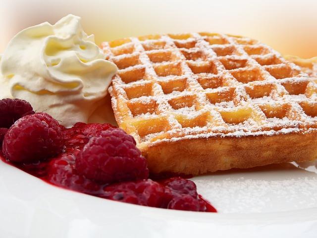 Waffles, Belgian, Belgischewaffel, Eat, Dine, Pastries