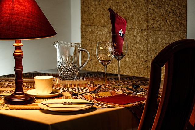 Dinner Table, Restaurant, Dining, Place Setting