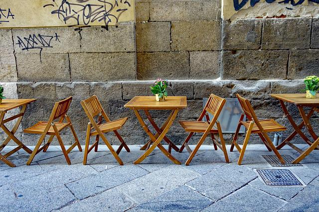Street Cafe, Chairs, Dining Tables, Sit Outside