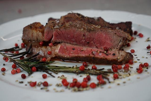 Plate, Food, Meat, Dinner