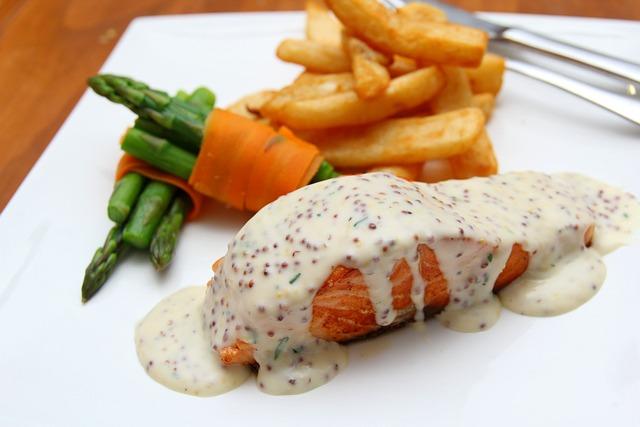 Food, Salmon, Seeded Mustard, Dinner