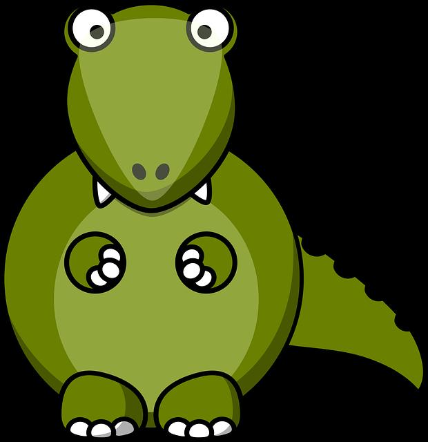 Dino, Dragon, Dinosaur, Animal, Monster, Cute, Cartoon